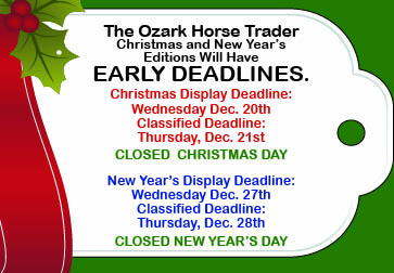 Eighth Holiday deadlines 2018 Christmas and New Years