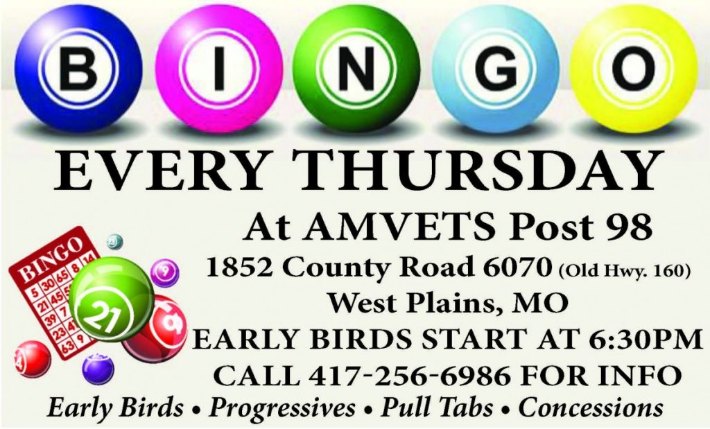 AMVETS Bingo 01-25-18