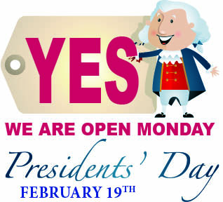 Yes Monday President's Day 2-2018